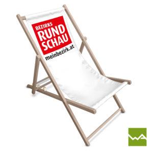 Liegestuhl bedruckt - Bezirksrundschau
