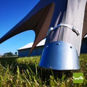 Sternzelt mit Aluminium Mast 5