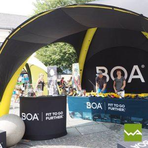 Pneu Werbezelt - Aufblasbares Zelt BOA
