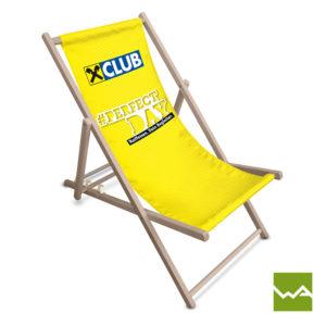 Liegestuhl bedruckt Raiffeisen Club