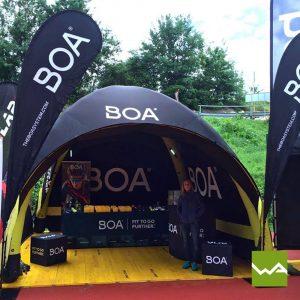 Pneu Werbezelt - Aufblasbares Zelt BOA 2