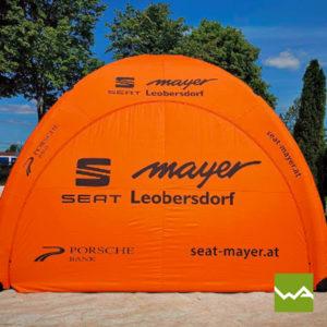 Pneu Werbezelt Seat Mayer
