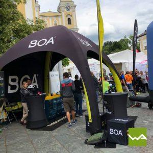 Pneu Werbezelt - Aufblasbares Zelt BOA 3