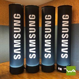 Aufblasbare Werbesäule - Leuchtsäule Samsung