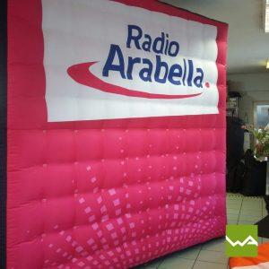 Aufblasbare Werbewand Radio Arabella