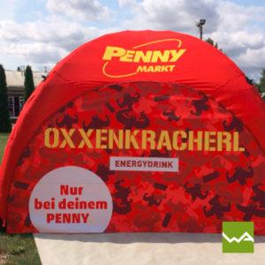 Pneu Werbezelt Penny Markt