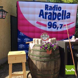 Aufblasbare Werbewand - Aufblasbarer Quader - Radio Arabella