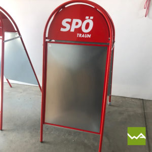 Kundenstopper Outdoor SPÖ 2