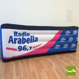 Aufblasbare Theke / Aufblasbare Bar von Radio Arabella 2