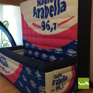 Aufblasbarer Counter von Radio Arabella 1