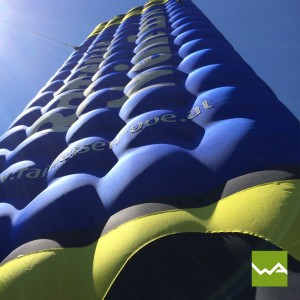 Aufblasbarer Tower / Werbetower – Raiffeisenbank 2