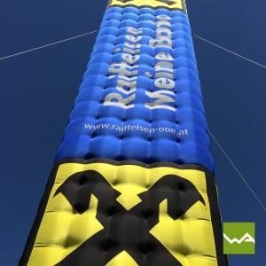 Aufblasbarer Tower / Werbetower – Raiffeisenbank 3
