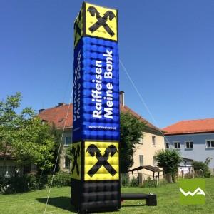 Aufblasbarer Tower / Werbetower – Raiffeisenbank 4