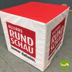 Sitzwürfel bedruckt – Bezirksrundschau 3