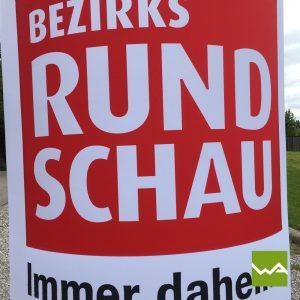 Aufblasbarer Werbebogen Bezirksrundschau 5