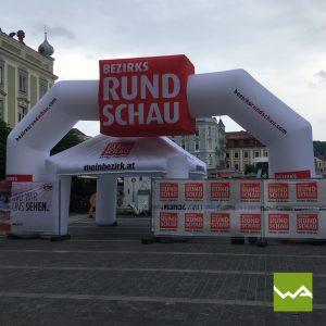 Endlosbanner / Werbebanner VLIES - Bezirksrundschau
