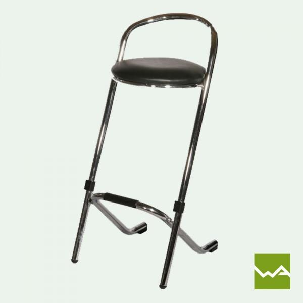 Barhocker ECO mit schwarzer Sitzfläche