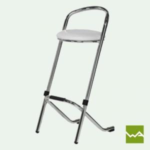 Barhocker mit weisser Sitzfläche