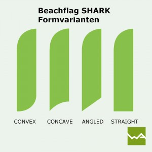 Beachflag SHARK Formvarianten