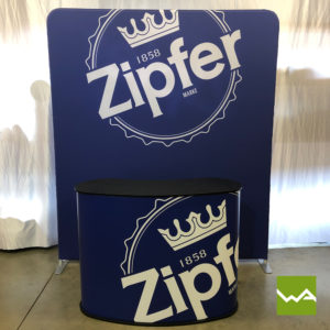 Zipper Praesentationswand Straight und Promotiontheke Large - Zipfer
