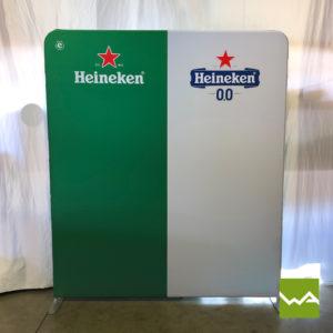 Zipper Praesentationswand Straight - Heineken