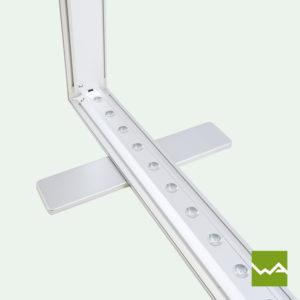 Messetheke für LED Leuchtkasten Lightbox 3