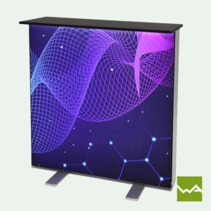 Messetheke für LED Leuchtkasten Lightbox 2
