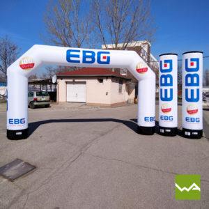 Aufblasbarer Torbogen und Aufblasbare Werbesäule EBG 2