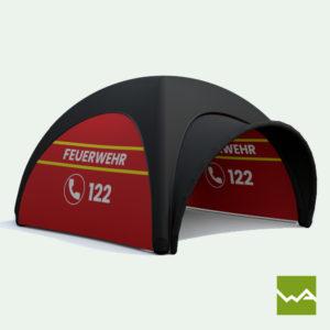 Pneu Schnelleinsatzzelt - AIRMACHINE Emergency Tent - Detailbild 5