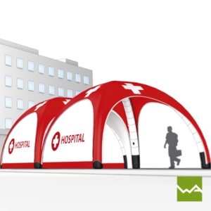Pneu Schnelleinsatzzelt - AIRMACHINE Emergency Tent - Detailbild 13