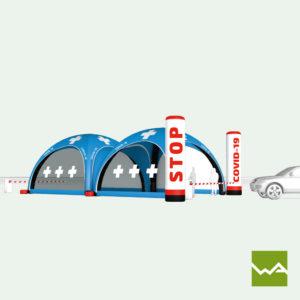 Pneu Schnelleinsatzzelt - AIRMACHINE Emergency Tent - Detailbild 10