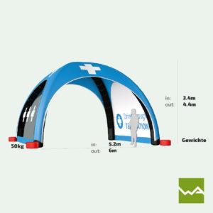 Pneu Schnelleinsatzzelt - AIRMACHINE Emergency Tent - Detailbild 9