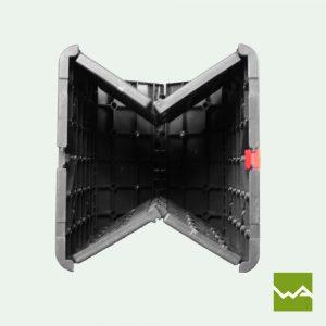 Flatcube - faltbarer Sitzwürfel - Mechanismus