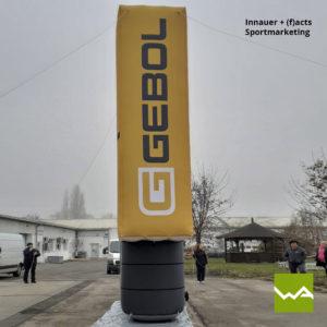 Aufblasbare Werbewand Gebol Skirennen Innauer (f)acts 6