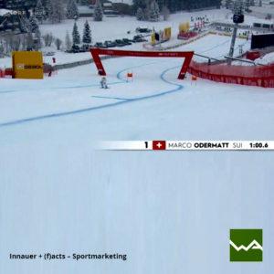 Aufblasbare Werbewand Gebol Skirennen Innauer (f)acts