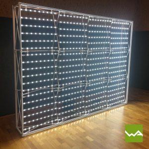 Messewand Pop up SHINE - Hintergrundbeleuchtung
