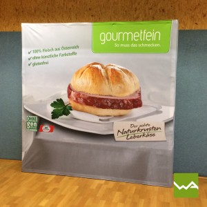 Messewand Pop up Textil - Gourmetfein