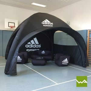 Aufblasbares Werbezelt - Adidas 2