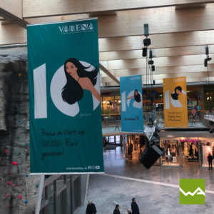 Hängefahnen Einkaufszentrum Varena 6