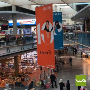 Hängefahnen Einkaufszentrum Varena 4
