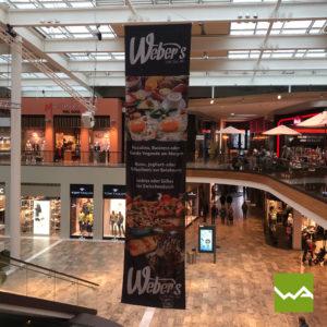 Hängefahnen Einkaufszentrum Varena 1