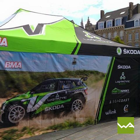 Faltzelt Skoda Racing