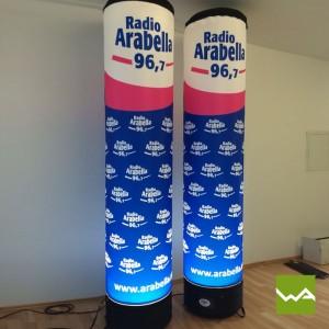 Aufblasbare Werbesäule CLASSIC - Radio Arabella