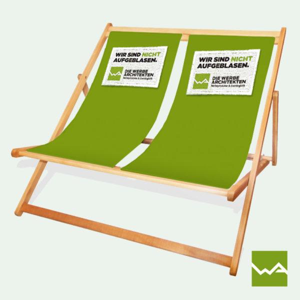 Doppel Liegestuhl bedruckt