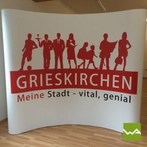 Magnetwand Pop up MAGNETIC – Stadt Grieskirchen