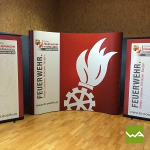 Messewand Pop up MAGNETIC – Feuerwehr Braunau