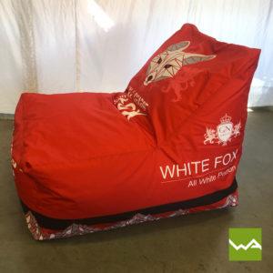 Beanbag Chair White Fox