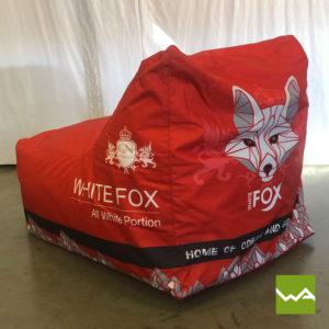 Beanbag Chair White Fox 7