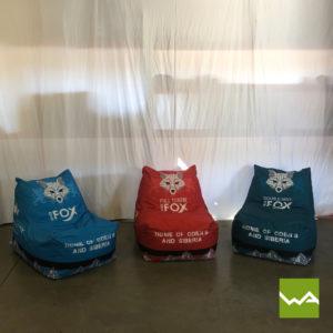 Beanbag Chair White Fox 6