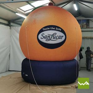 Aufblasbare Sonderform San Lucar Orange 4
